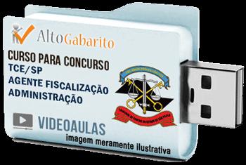Curso Concurso Tribunal de Contas Estado – SP – Agente Fiscalização Administração – Videoaulas Pendrive
