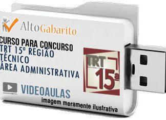 Curso Concurso TRT 15ª Região – Campinas/SP – Técnico Administrativo – Videoaulas Pendrive