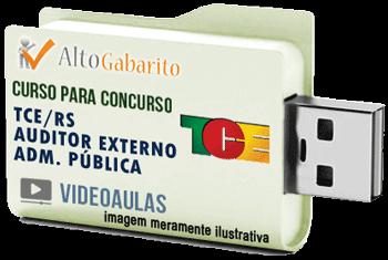 Curso Concurso Tribunal de Contas Estado – RS – Auditor Externo Administração Pública – Videoaulas Pendrive