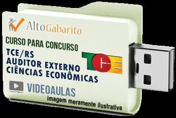 Curso Concurso Tribunal de Contas Estado – RS – Auditor Externo Ciências Econômicas – Videoaulas Pendrive