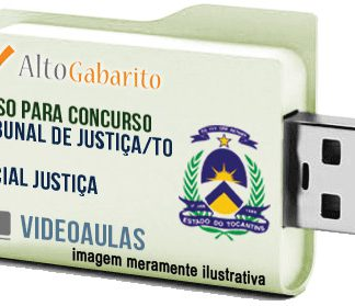 Curso Concurso Tribunal Justiça – TO – Oficial Justiça – Videoaulas Pendrive