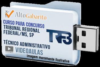Curso Concurso TRF 3ª Região – Técnico Administrativo – Videoaulas Pendrive