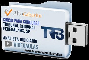 Curso Concurso TRF 3ª Região – Analista Judiciário – Videoaulas Pendrive