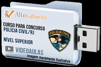 Curso Concurso Polícia Civil – RJ – Nível Superior – Videoaulas Pendrive