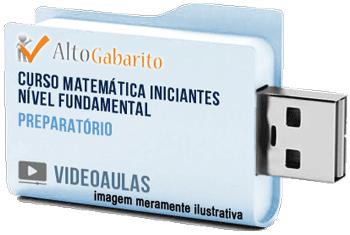 Curso de Matemática para Iniciantes Nível Fundamental – Videoaulas Pendrive