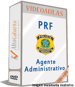 Curso Concurso PRF – Agente Administrativo – Videoaulas DVDs