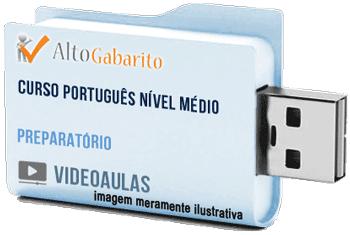 Curso de Português Nível Médio – Videoaulas Pendrive