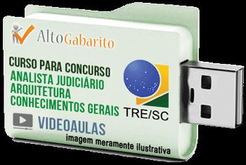 Curso Básico Concurso Tribunal Regional Eleitoral – SC – Analista Judiciário Arquitetura – Videoaulas Pendrive