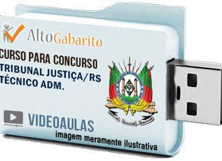 Curso Concurso Tribunal Justiça – RS – Técnico Administrativo – Videoaulas Pendrive