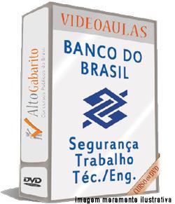 Curso Concurso Banco do Brasil – Segurança Trabalho – Videoaulas DVDs