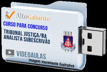 Curso Concurso Tribunal Justiça – BA – Analista Subescrivão – Videoaulas Pendrive