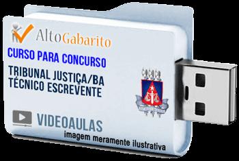 Curso Concurso Tribunal Justiça – BA – Técnico Escrevente – Videoaulas Pendrive