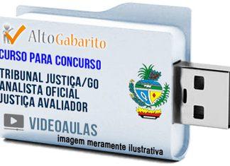 Curso Concurso Tribunal Justiça – GO – Analista Oficial Justiça Avaliador – Videoaulas Pendrive