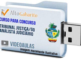 Curso Concurso Tribunal Justiça – GO – Analista Judiciário – Videoaulas Pendrive