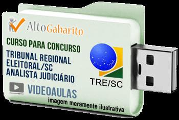 Curso Concurso Tribunal Regional Eleitoral – SC – Analista Judiciário – Videoaulas Pendrive