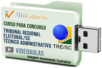 Curso Concurso Tribunal Regional Eleitoral – SC – Técnico Administrativo – Videoaulas Pendrive