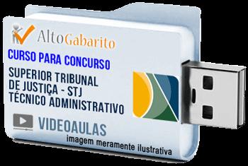 Curso Concurso Superior Tribunal Justiça – Técnico Administrativo – Videoaulas Pendrive