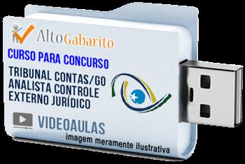 Curso Concurso Tribunal de Contas Estado – GO – Analista Controle Externo Jurídico – Videoaulas Pendrive