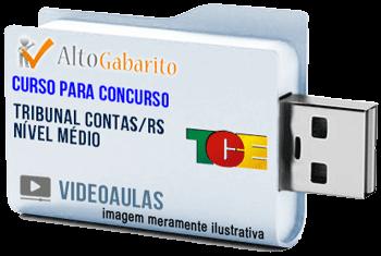 Curso Concurso Tribunal de Contas Estado – RS – Nível Médio – Videoaulas Pendrive