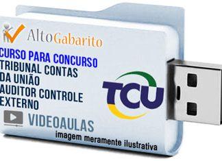 Curso Concurso Tribunal Contas União – Auditor Controle Externo – Videoaulas Pendrive