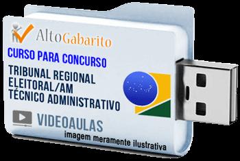 Curso Concurso Tribunal Regional Eleitoral – AM – Técnico Judiciário – Videoaulas Pendrive