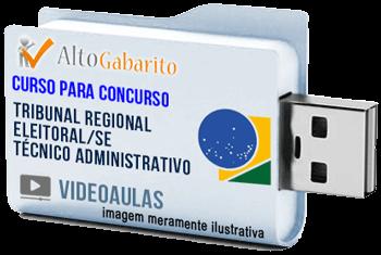 Curso Concurso Tribunal Regional Eleitoral – SE – Técnico Administrativo – Videoaulas Pendrive