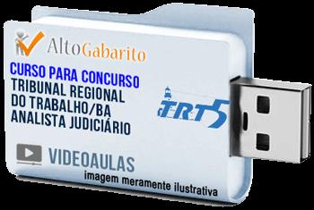 Curso Concurso TRT 5ª Região – BA – Analista Área Judiciária – Videoaulas Pendrive