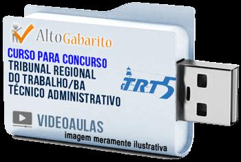 Curso Concurso TRT 5ª Região – BA – Técnico Área Administrativa – Videoaulas Pendrive