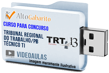 Curso Concurso TRT 13ª Região – PB – Técnico TI – Videoaulas Pendrive