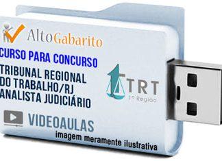 Curso Concurso TRT 1ª Região – RJ – Analista Judiciário – Videoaulas Pendrive