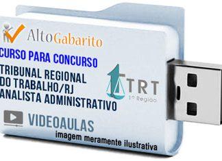 Curso Concurso TRT 1ª Região – RJ – Analista Administrativo – Videoaulas Pendrive