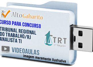 Curso Concurso TRT 1ª Região – RJ – Analista TI – Videoaulas Pendrive