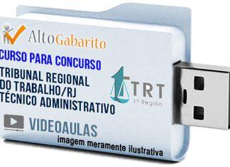 Curso Concurso TRT 1ª Região – RJ – Técnico Administrativo – Videoaulas Pendrive