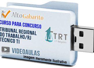 Curso Concurso TRT 1ª Região – RJ – Técnico TI – Videoaulas Pendrive