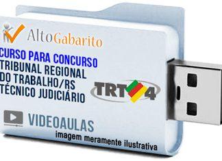 Curso Concurso TRT 4ª Região – RS – Técnico Judiciário – Videoaulas Pendrive