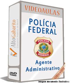 Curso Concurso Polícia Federal – Agente Administrativo – Videoaulas DVDs