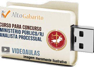 Curso Concurso Ministério Público – RJ – Analista Processual – Videoaulas Pendrive