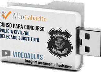 Curso Concurso Polícia Civil – GO – Delegado Substituto – Videoaulas Pendrive