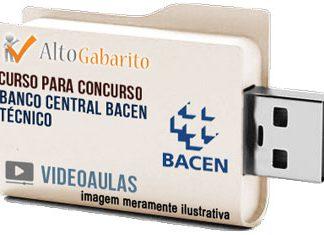 Curso Concurso Banco Central – BACEN – Técnico – Videoaulas Pendrive