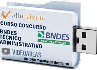 Curso Concurso BNDES – Técnico Administrativo – Videoaulas Pendrive