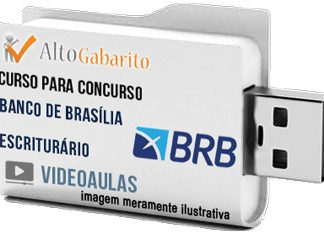 Curso Concurso BRB Banco Brasília – Escriturário – Videoaulas Pendrive