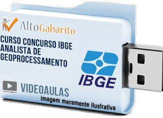 Curso Concurso IBGE – Analista Geoprocessamento – Videoaulas Pendrive