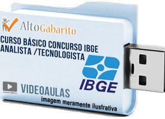Curso Básico Concurso IBGE – Analista – Tecnologista – Videoaulas Pendrive