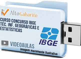 Curso Concurso IBGE – Técnico Informações Geográficas Estatísticas – Videoaulas Pendrive