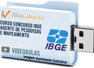 Curso Processo Seletivo IBGE – Agente Pesquisas Mapeamento – Videoaulas Pendrive