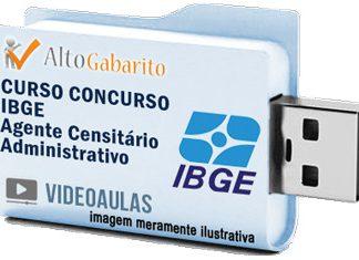 Curso Concurso IBGE – Agente Administrativo – Videoaulas Pendrive