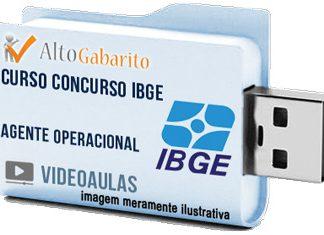 Curso Concurso IBGE – Agente Operacional – Videoaulas Pendrive