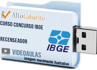 Curso Concurso IBGE – Recenseador – Videoaulas Pendrive