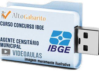 Curso Concurso IBGE – Agente Censitário Municipal – Videoaulas Pendrive