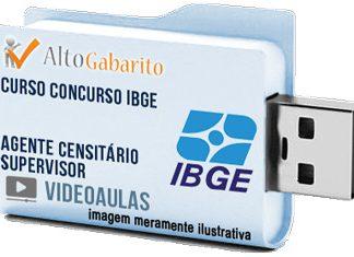 Curso Concurso IBGE – Agente Censitário Supervisor – Videoaulas Pendrive